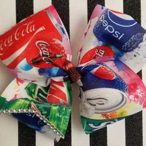 Soda mix hair bow